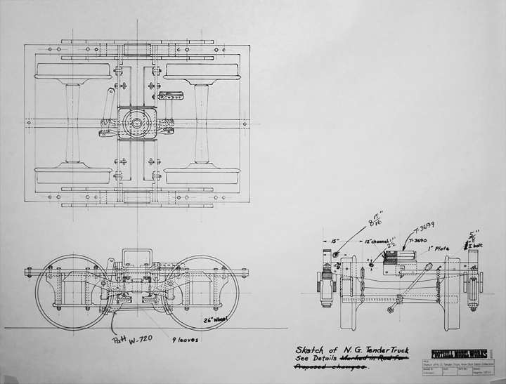 The foothill model works home page this is a direct copy of sketch of the structure of a narrow gauge tender truck purchased from the estate of the late richard c datin jr he was a reno malvernweather Choice Image